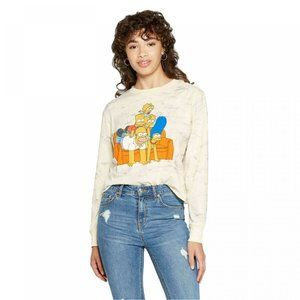 The Simpsons Marble Dyed Character Cropped Tee S